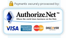 Integrated with Authorize.NET